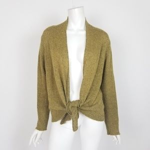 Eileen Fisher Tie Front Mohair Cashmere Cardigan